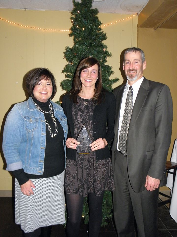 Youth Volunteer of the Year Hadleigh Buchler with her parents Scott & Janelle