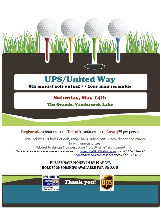 UPS/United Way 5th Annual Golf Outing & 4 Man Scramble @ The Grande | Jackson | Michigan | United States