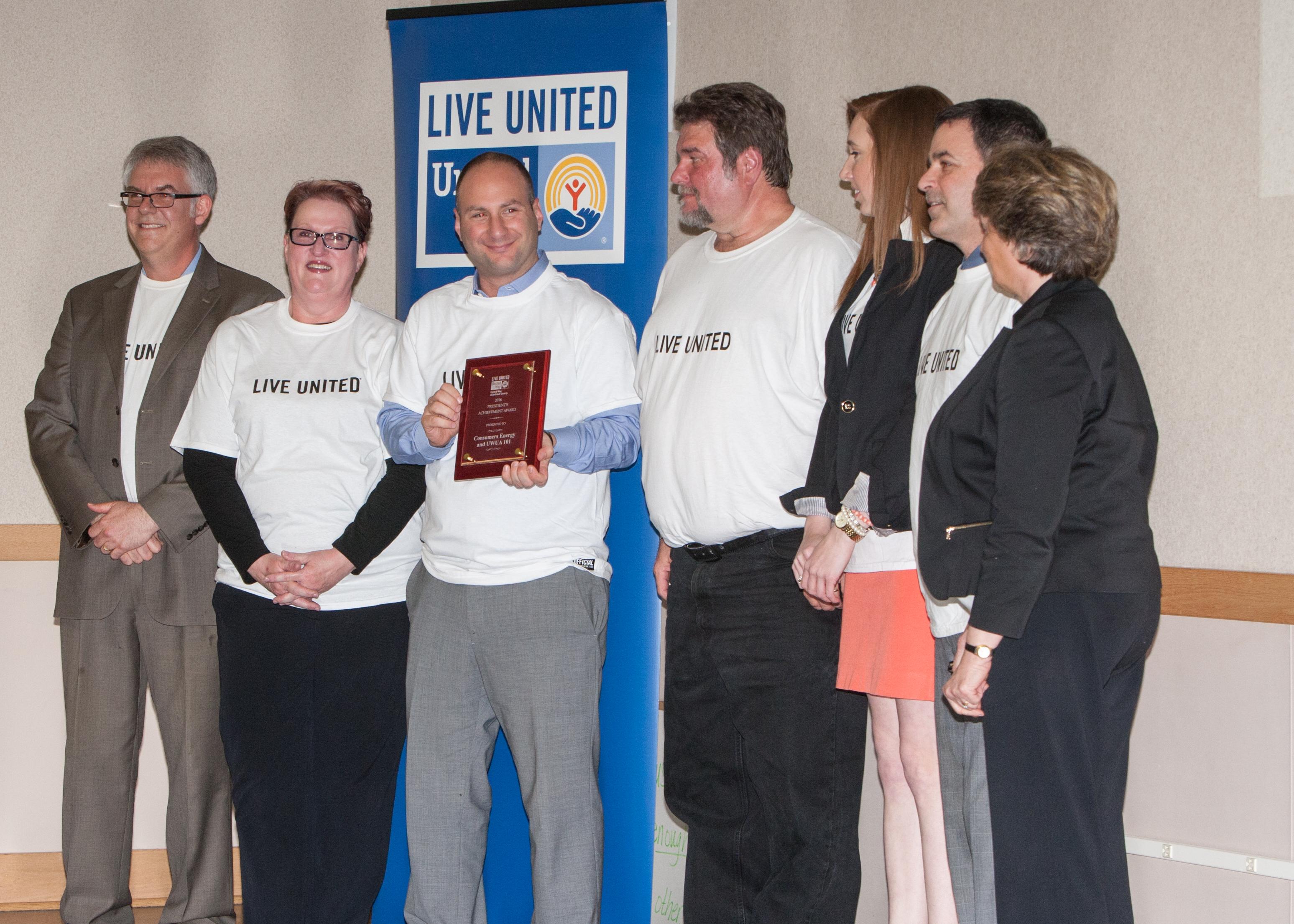 President's Achievement Award Recipient - Consumers Energy