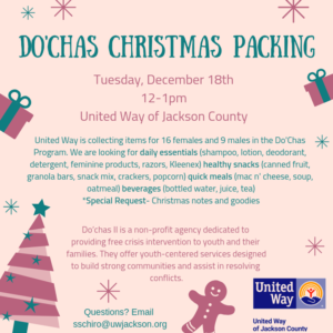 Do'Chas Christmas Packing @ United Way of Jackson County