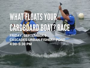 What Floats Your Cardboard Boat Race @ Cascades Urban Fishery Pond